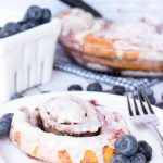 Shortcut Blueberry Cheesecake Cinnamon Rolls #BrunchWeek