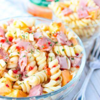 Ham and Cheese Pasta Salad - No Mayonnaise
