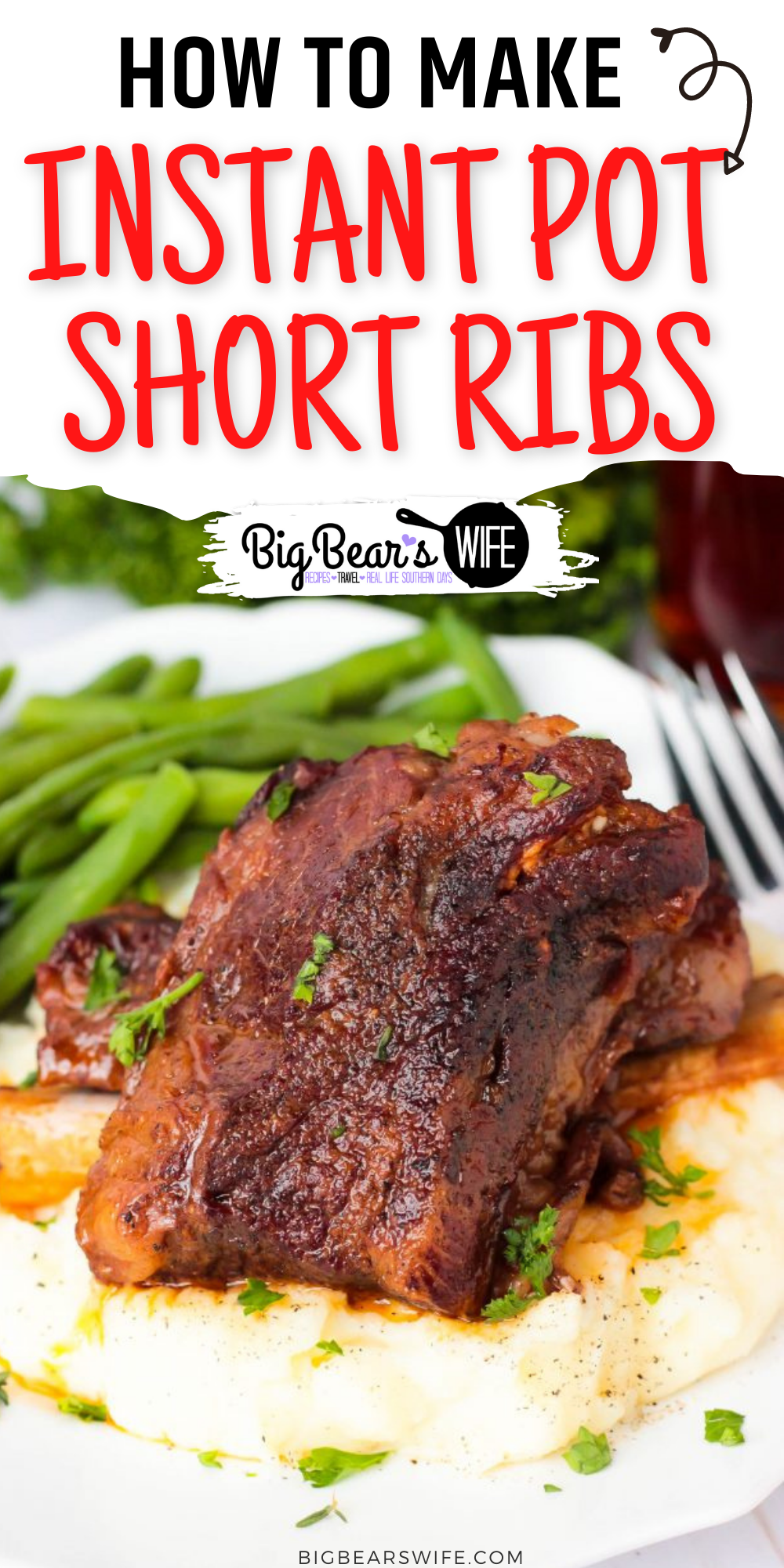 Instant Pot Short Ribs - These Instant Pot Short Ribs are my super tender and packed with tons of wonderful flavor! This recipe is my new version of my super popular Slow Cooker Short Rib recipe that I've adapted to work with the Instant Pot electric pressure cooker! #InstantPot #ShortRib #Recipe via @bigbearswife