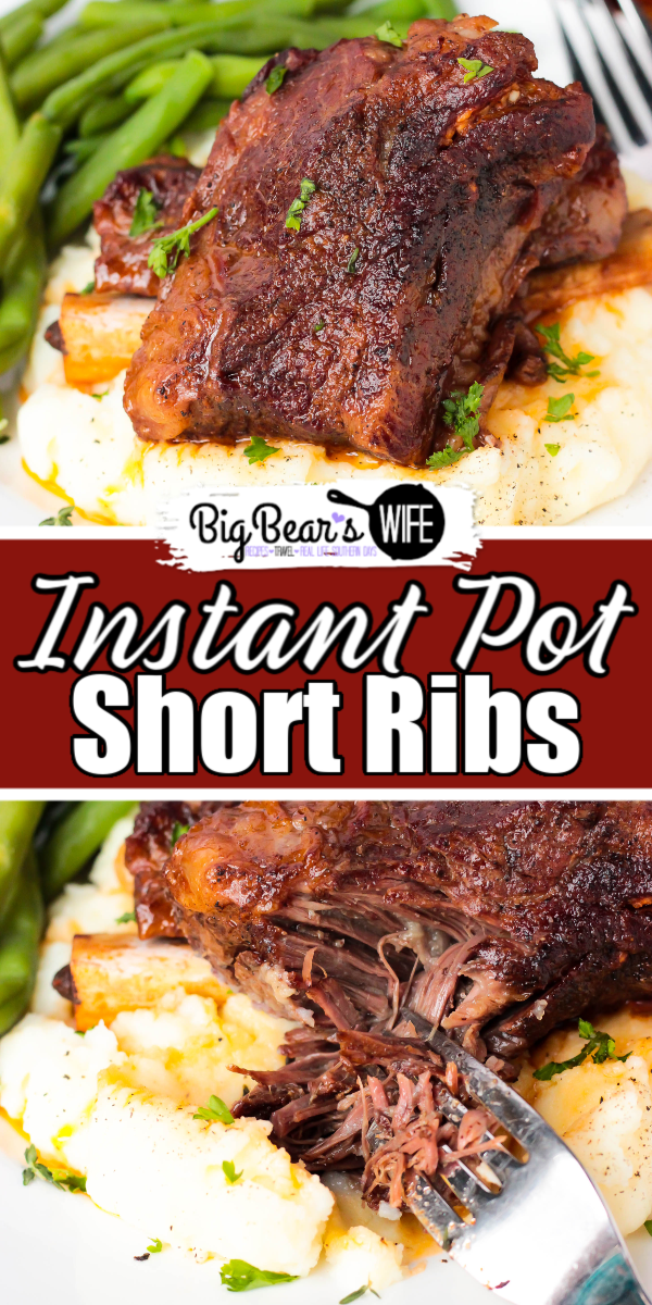 Instant Pot Short Ribs - TheseInstant Pot Short Ribs are my super tender and packed with tons of wonderful flavor! This recipe is my new version of my super popular Slow Cooker Short Rib recipe that I've adapted to work with the Instant Pot electric pressure cooker! #InstantPot #ShortRib #Recipe