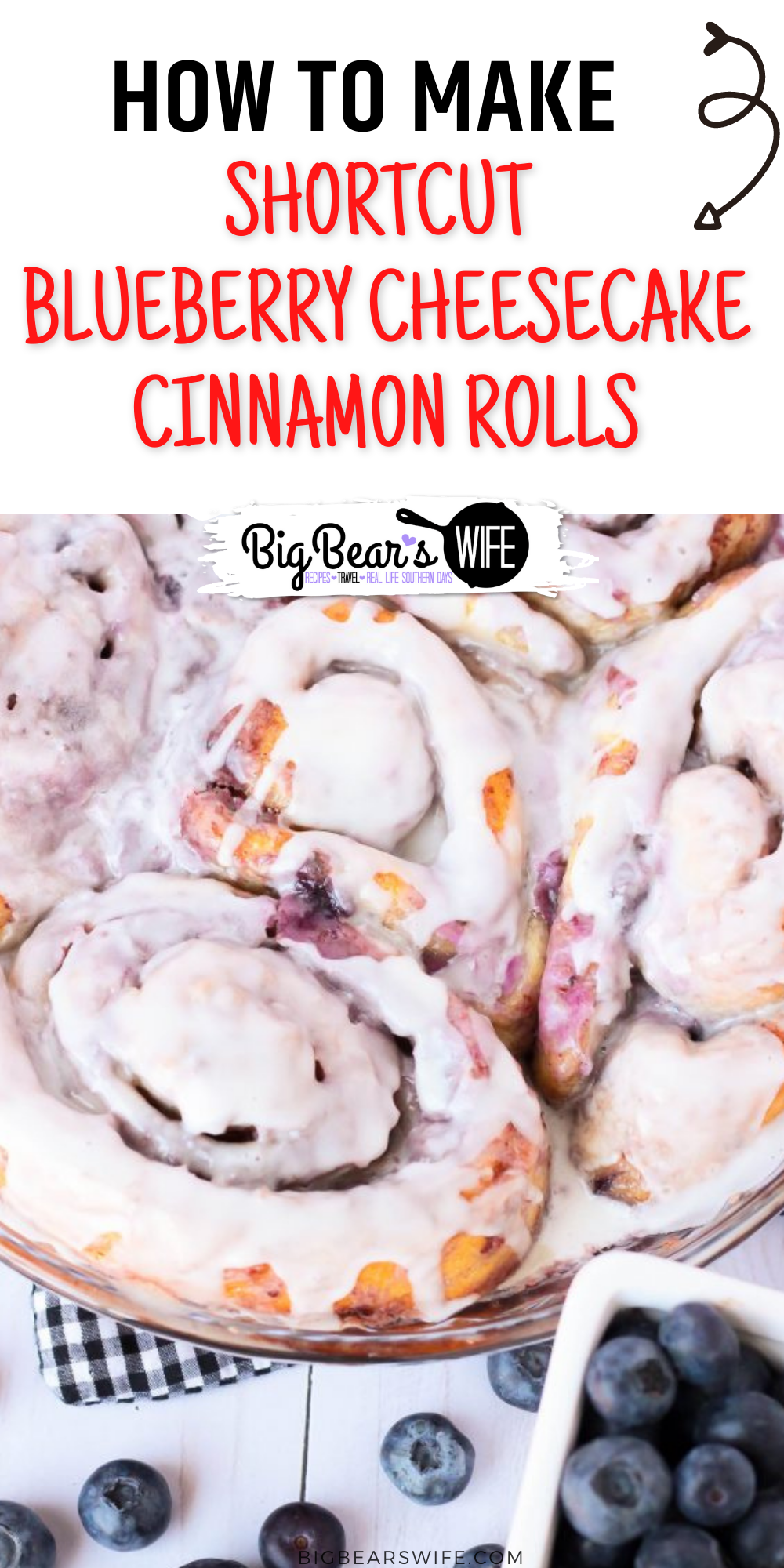 These Shortcut Blueberry Cheesecake Cinnamon Rolls use store bought cinnamon rolls and a homemade blueberry cheesecake filling to create a delicious breakfast or brunch that's perfect for the weekend! Make the blueberry compote the night before for an even faster morning treat!