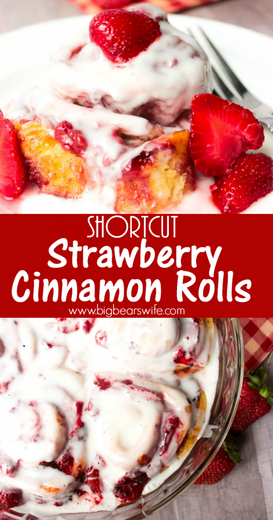 Shortcut Strawberry Cinnamon Rolls