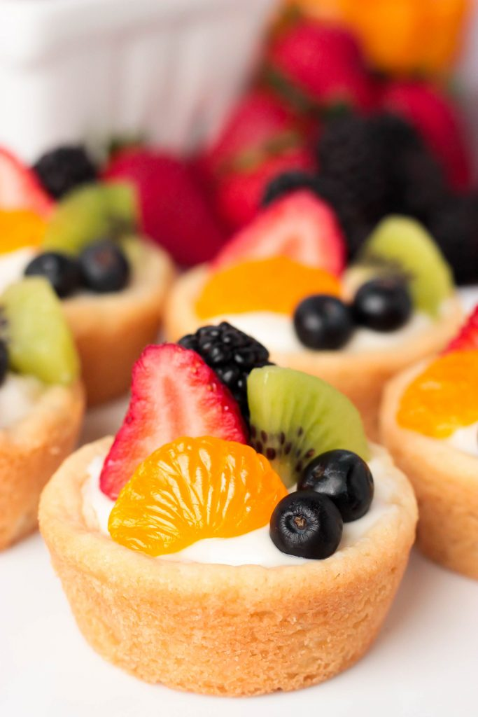 Summer Fruit Sugar Cookie Cups