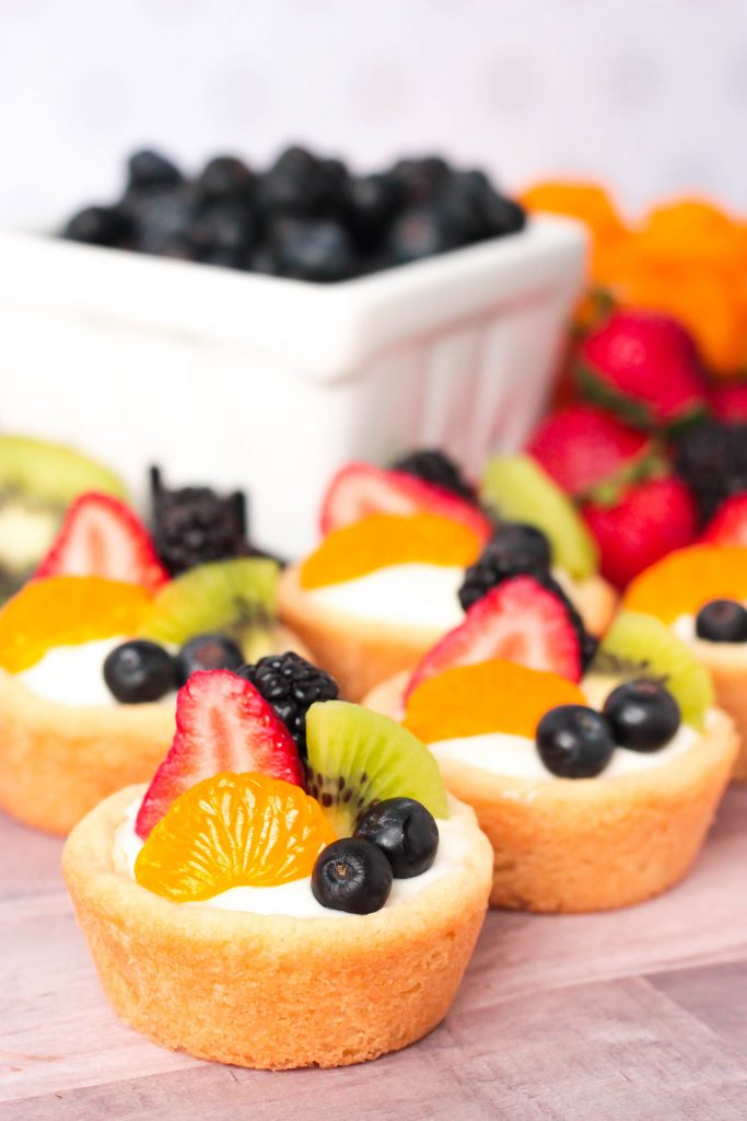 Summer Fruit Sugar Cookie Cups