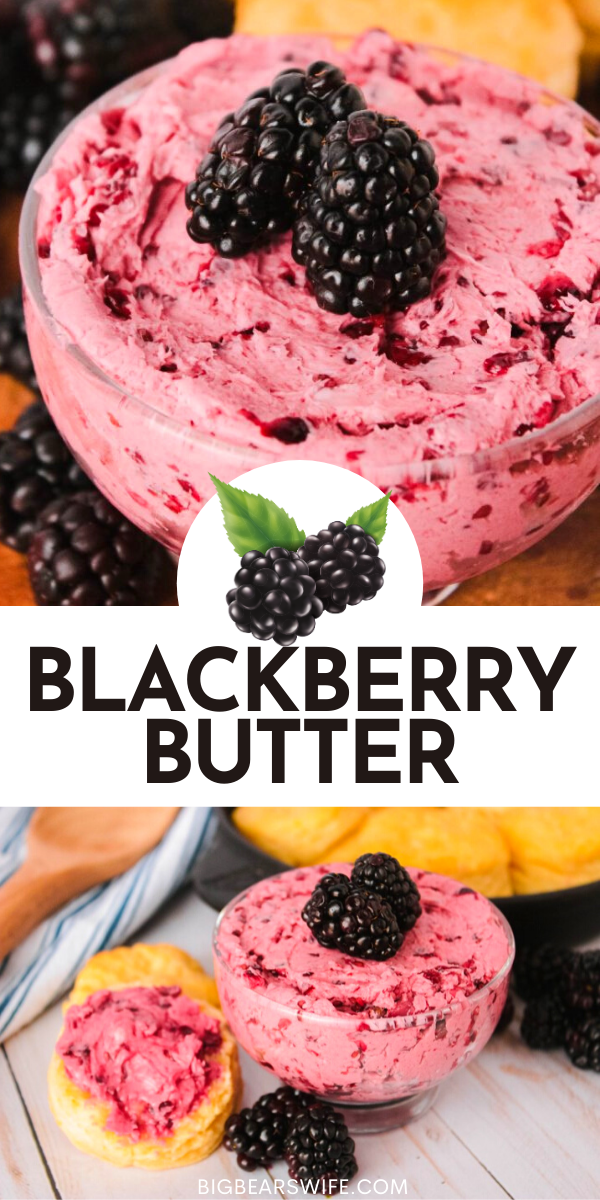 Whip up this homemade blackberry butter to set on the breakfast table for the whole family to enjoy. Perfect on warm, fluffy biscuits, waffles, pancakes or french toast! via @bigbearswife