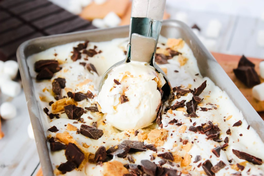 No Churn S'more Ice Cream
