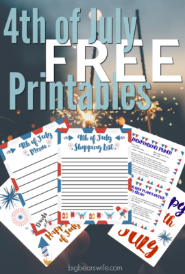 Free 4th of July Party Planning Printables - These free  4th of July Party Planning Printable include a blank menu sheet, shopping list, coloring pages, and printable recipe cards of two of my most popular 4th of July recipes!