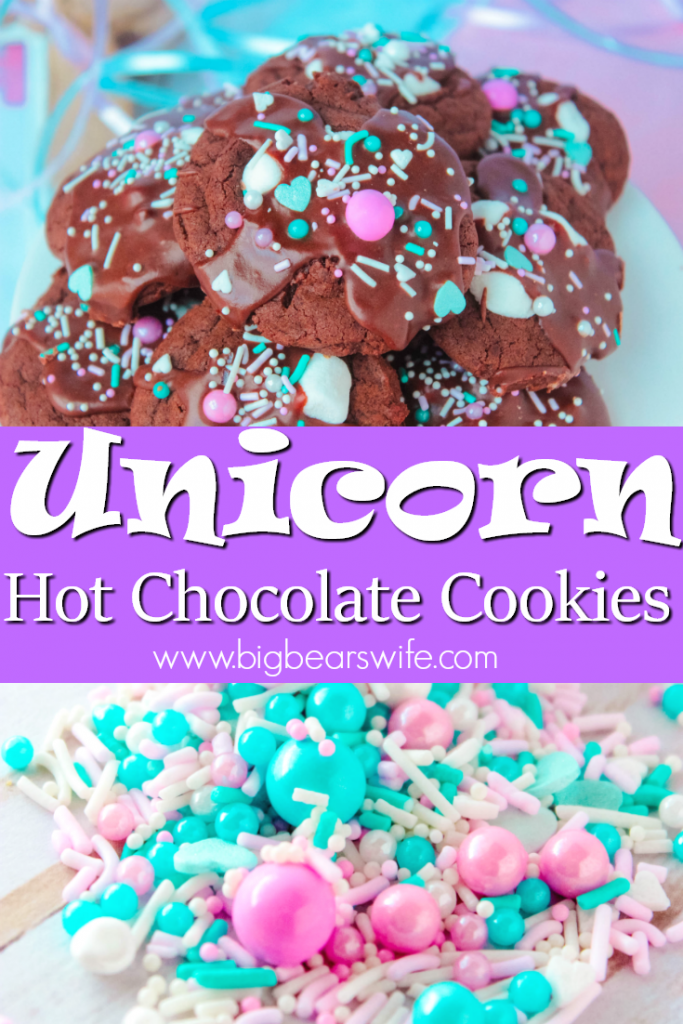 Unicorn Hot Chocolate Cookies Pin It!