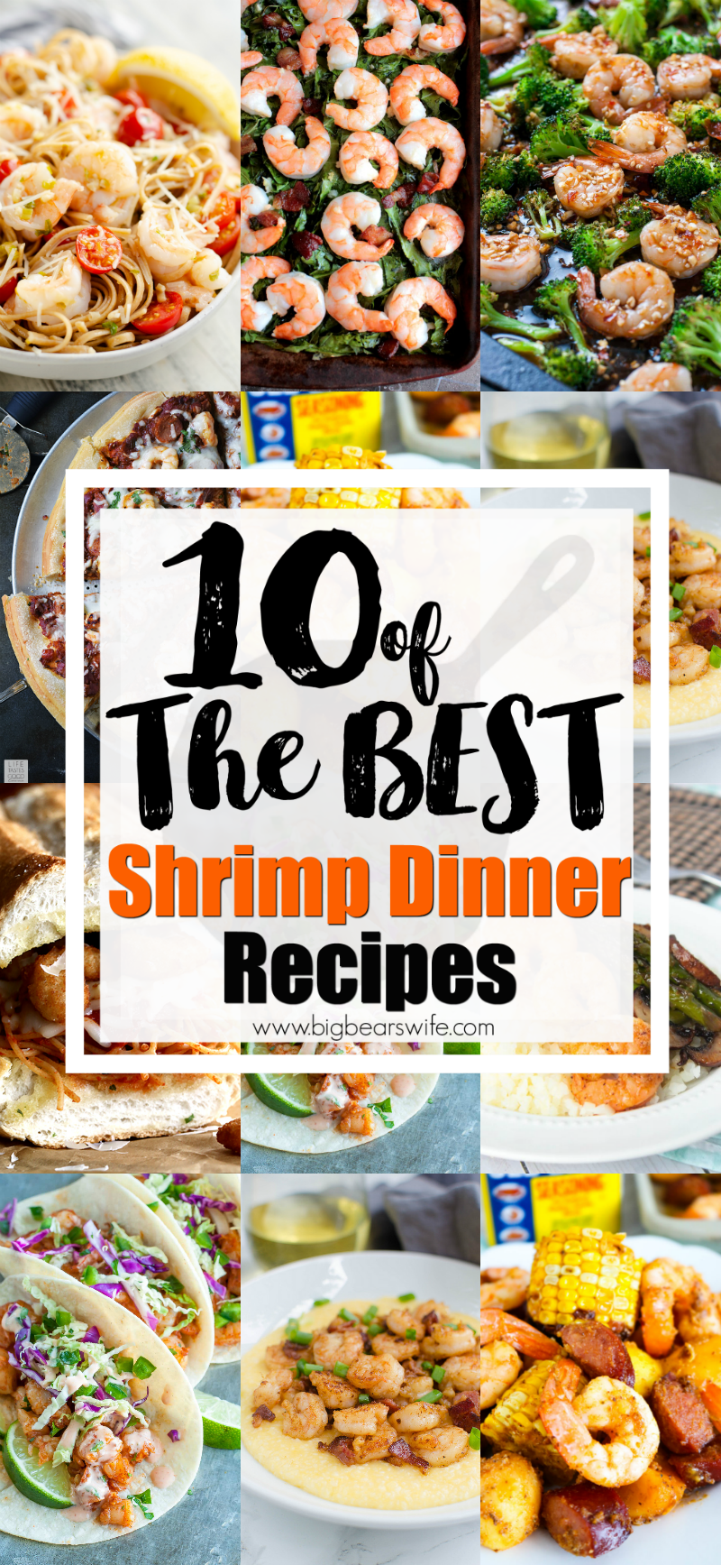 10 of the Best Shrimp Dinner Recipes - If you're looking for some seafood dinner ideas I've got 10 of the Best Shrimp Dinner Recipes for you to try!