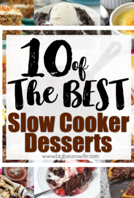 10 of the Best Slow Cooker Desserts - Dessert doesn't have to be an everyday thing but when you've been working on dinner all evening it's nice to have a dessert waiting for you in the slow cooker! You'll love 10 of the Best Slow Cooker Desserts that I've found, they're great for after dinner and for parties!
