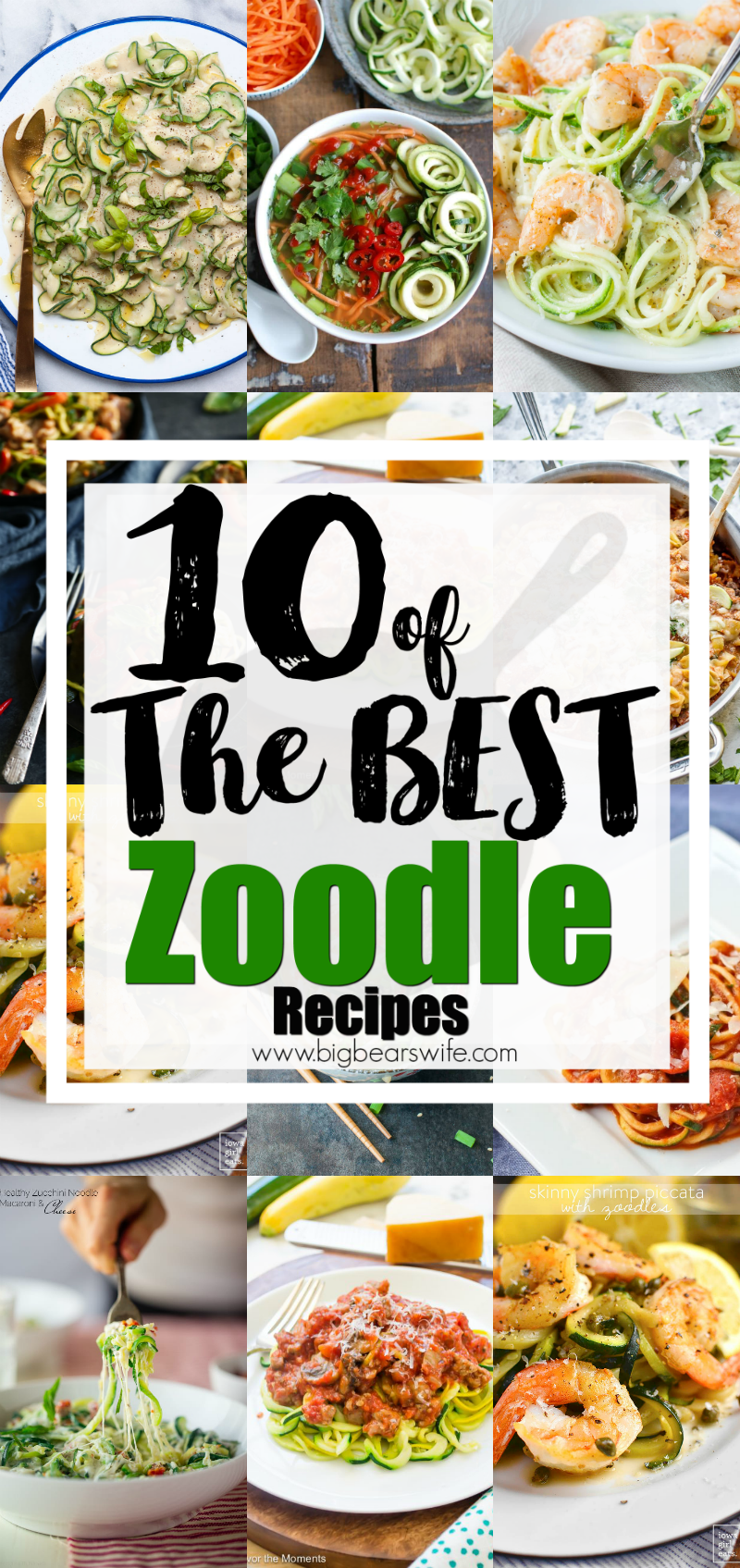 10 of the Best Zoodle Recipes - Use up those amazing vegetables that you're grabbing at the Farmer's Market and whip up these fun zoodle recipes! We're looking at 10 of the Best Zoodle Recipes