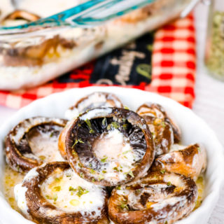 The BEST Baked Mushrooms