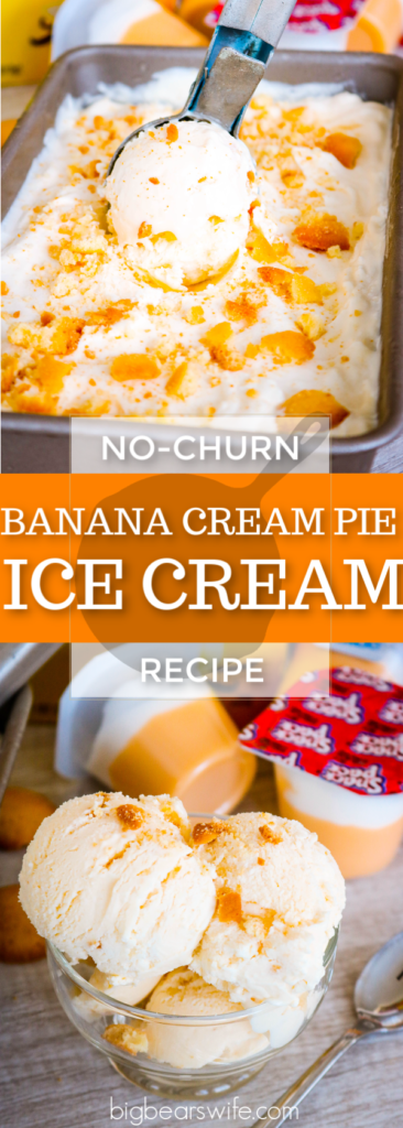 Banana Cream Pie Pudding No-Churn Ice Cream