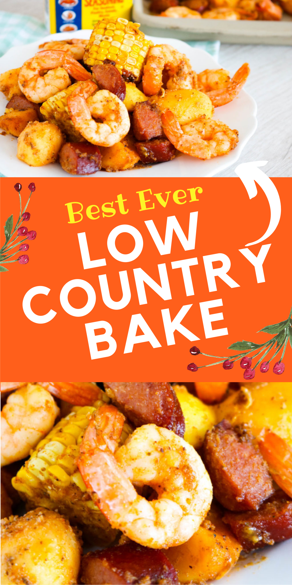 This Low Country Bake has all of the classic flavors of a Low Country Boil but it's baked in the oven and done in about 30 minutes!   via @bigbearswife