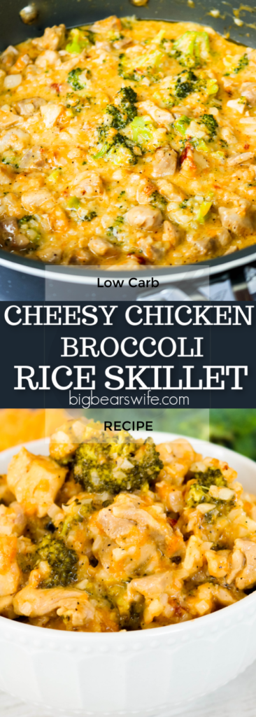 Low Carb Cheesy Chicken Broccoli Rice Skillet