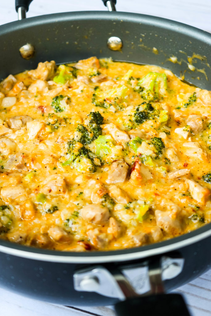 Low Carb Cheesy Chicken Broccoli Rice Skillet Big Bear S Wife