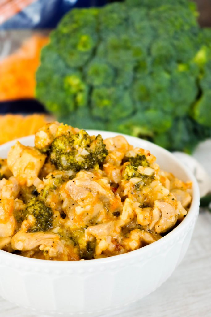 Low Carb Chicken Broccoli Rice Skillet