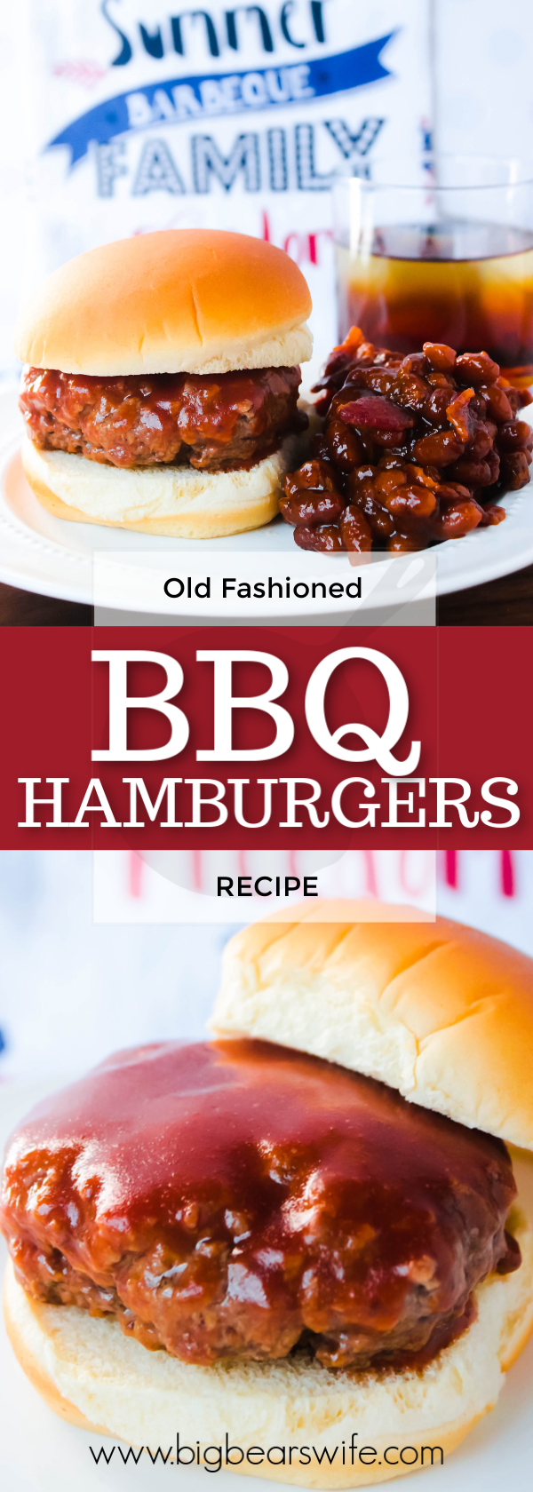 The recipe for these Old Fashioned BBQ Hamburgers came straight from my grandma's little wooden recipe box and they might be some of the best we've made!
