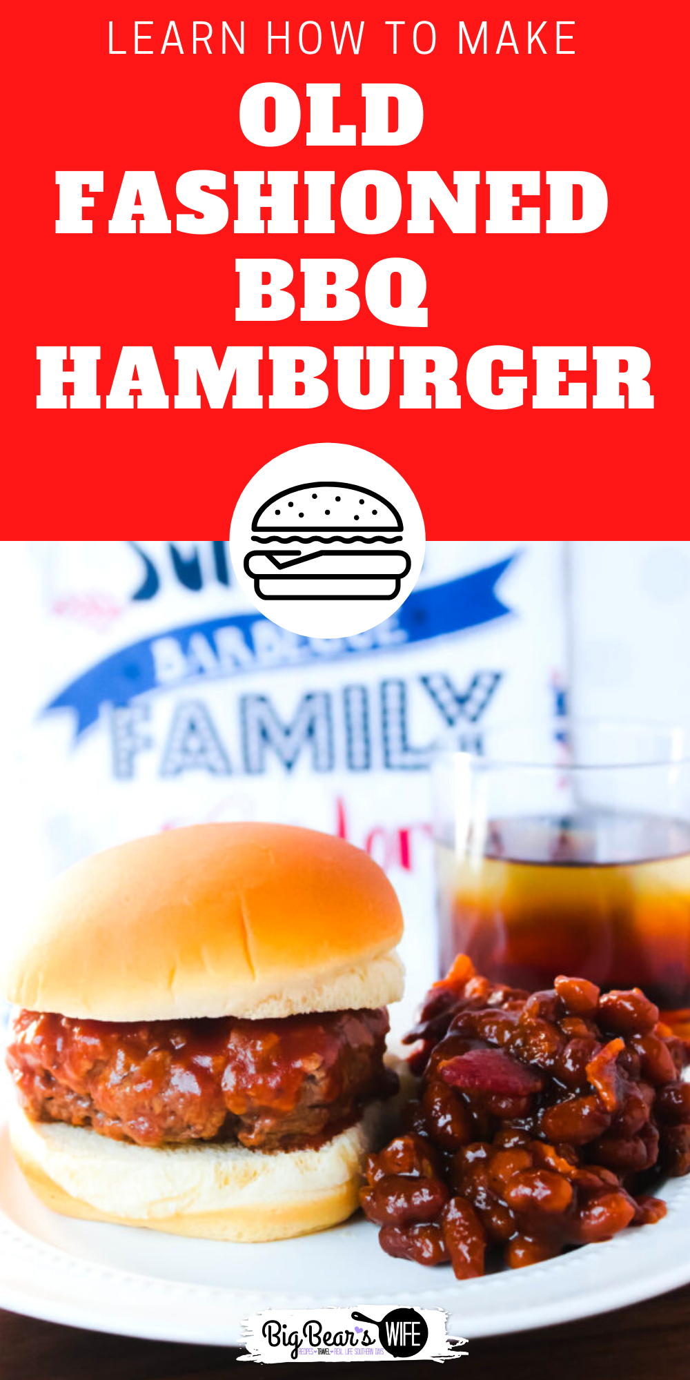 The recipe for these Old Fashioned BBQ Hamburgers came straight from my grandma's little wooden recipe box and they might be some of the best we've made!    via @bigbearswife