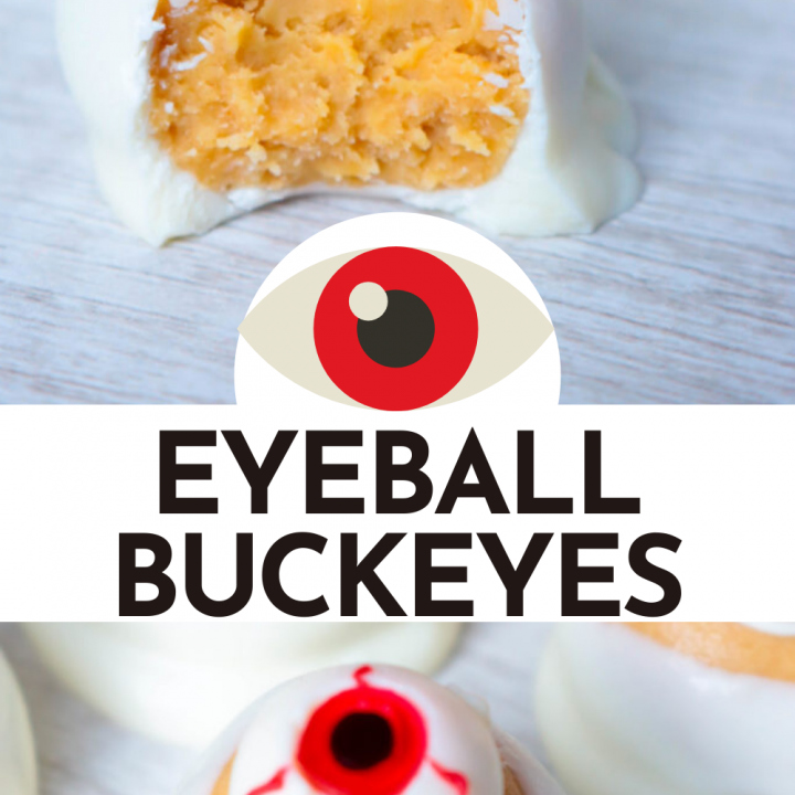 Simple and wickedly tasty peanut butter Halloween eyeball Buckeyes are watching you! I've got the recipe for you and 3 different ideas for decorating them!
