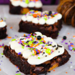 Frosted Halloween Monster Mash Brownies #HalloweenTreatsWeek