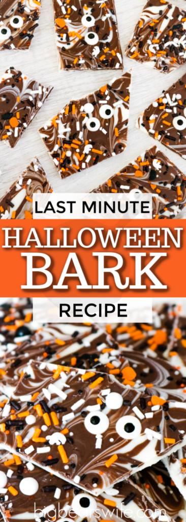 Last Minute Halloween Bark