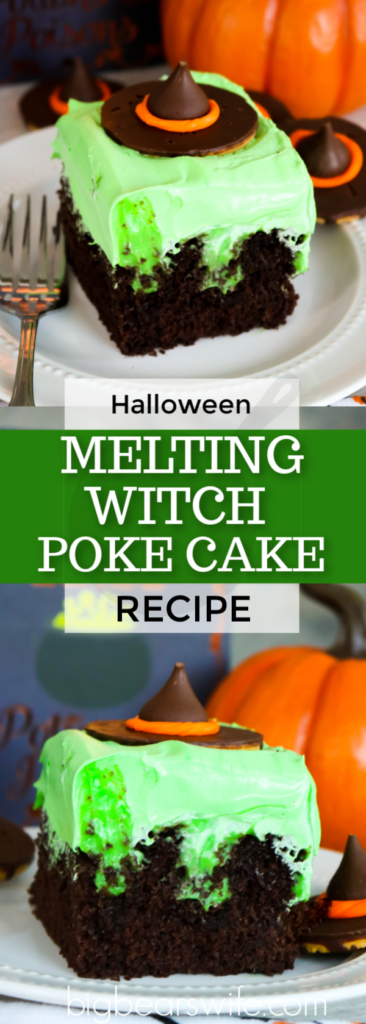 Melting Witch Poke Cake