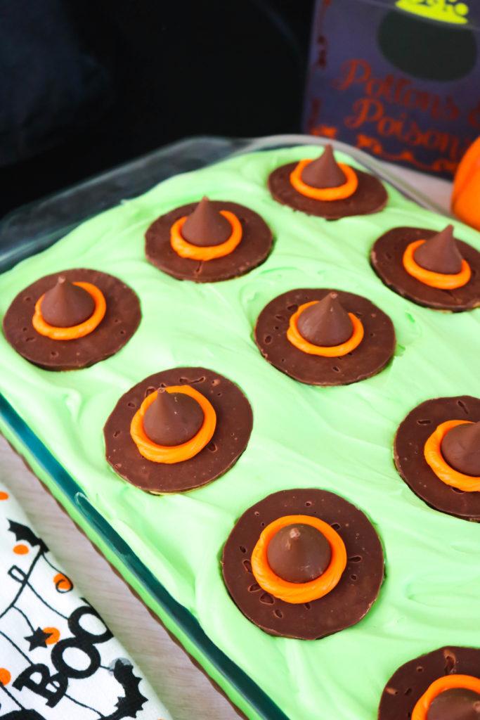 Melting Witch Poke Cake