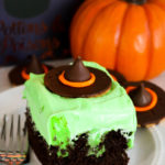 Melting Witch Poke Cake #HalloweenTreatsWeek