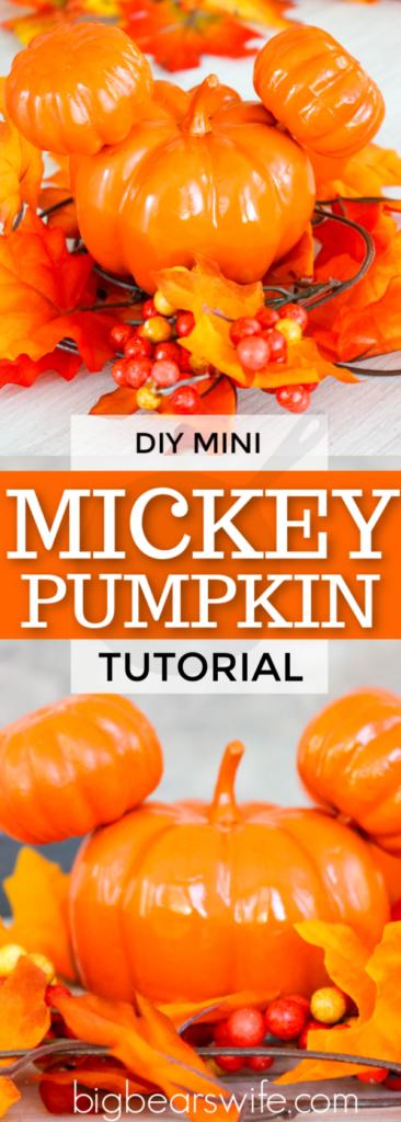 Mini Mickey Pumpkins