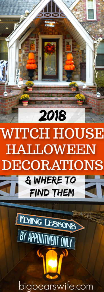 Our 2018 Halloween Decorations - Witch Theme