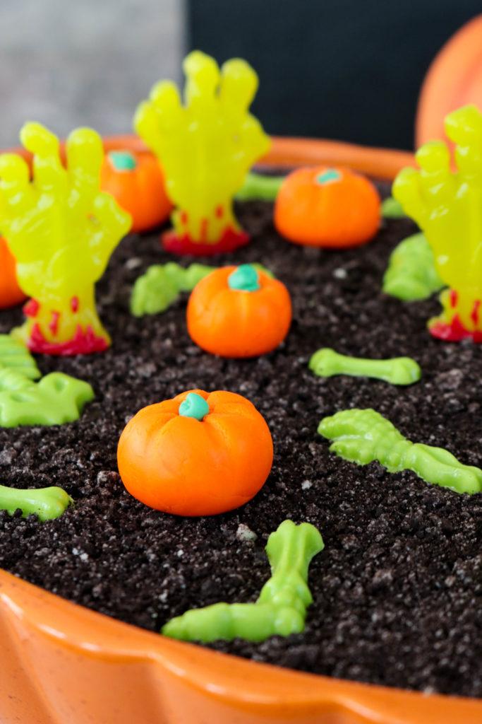 Pumpkin Patch Graveyard Eclair Dessert