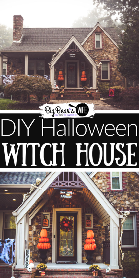 Halloween Witch House Decorations and Where to find them~ - We decorated ournew house with a wicked witch cottage theme and we're here to tell you where we got everything, how to make some of your own DIY Halloween decorations and how to save some money when decorating for Halloween! These areOur 2018 Halloween Decorations - Witch Theme! via @bigbearswife