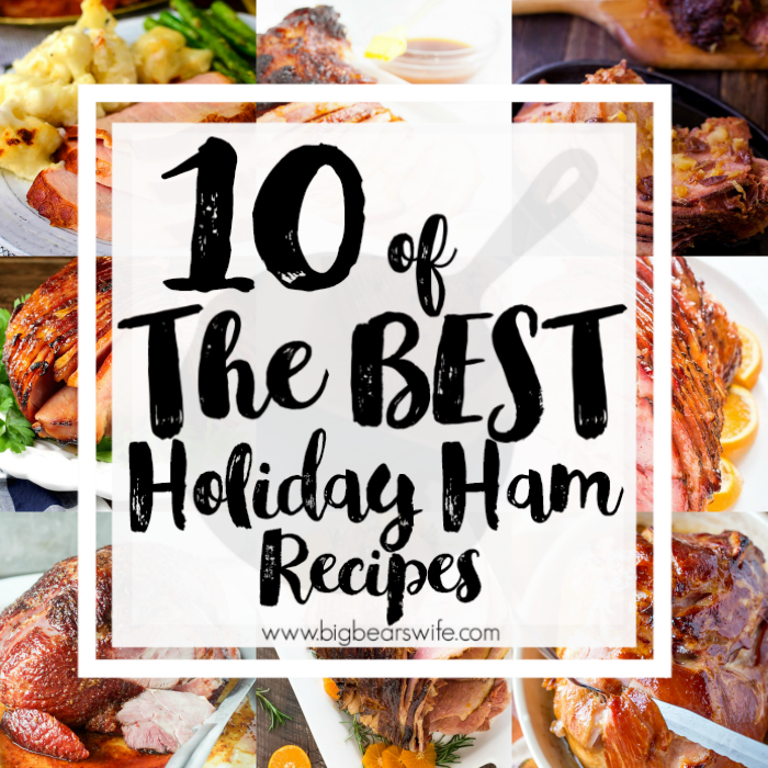 10 of the best Holiday Ham Recipes - Working on your Holiday menu? You'll love this post that's packed with 10 of the best Holiday Ham Recipes to pick from this year!
