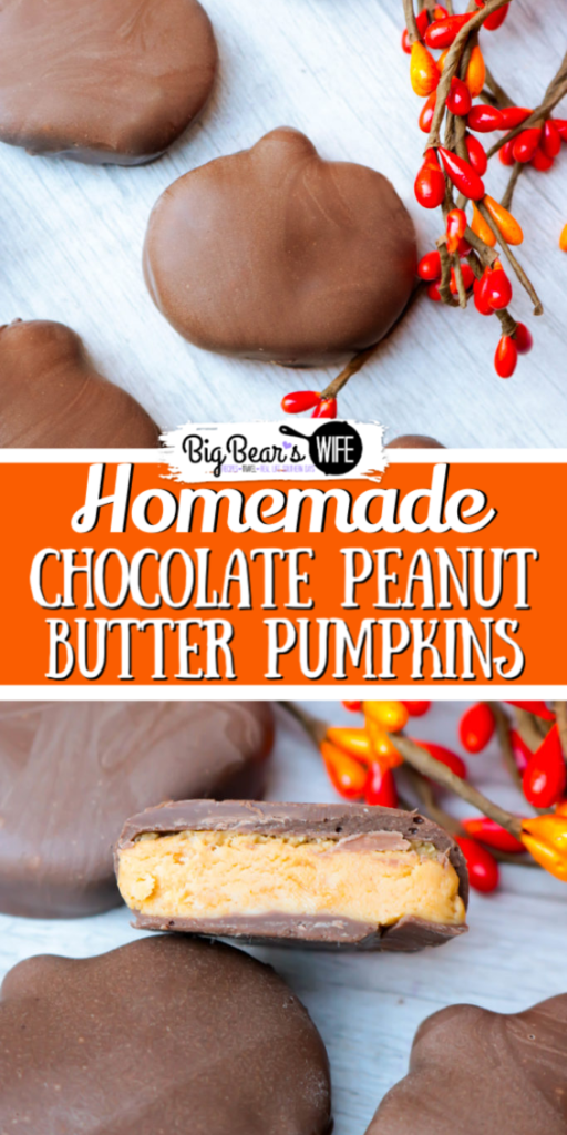 Who loves Chocolate Peanut Butter Pumpkins? WE DO! Want to have some for Halloween AND Thanksgiving? (Or maybe just all year?) Here's how to makeHomemade Chocolate Peanut Butter Pumpkins...
