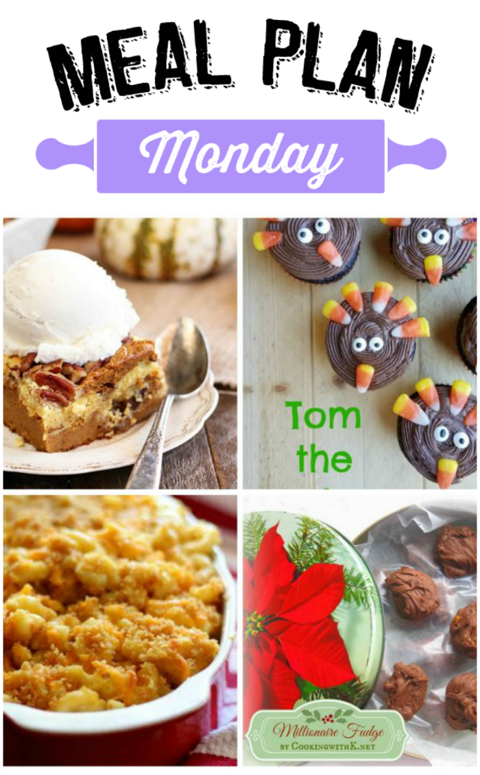 Grab some Thanksgiving day inspiration with recipes from this week'sMeal Plan Monday 140! via @bigbearswife