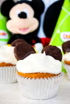 Mickey Mouse Birthday Banana Cupcakes