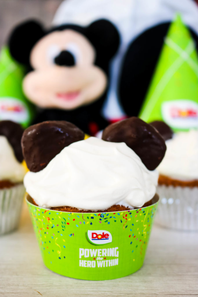 Mickey Mouse Birthday Banana Cupcakes