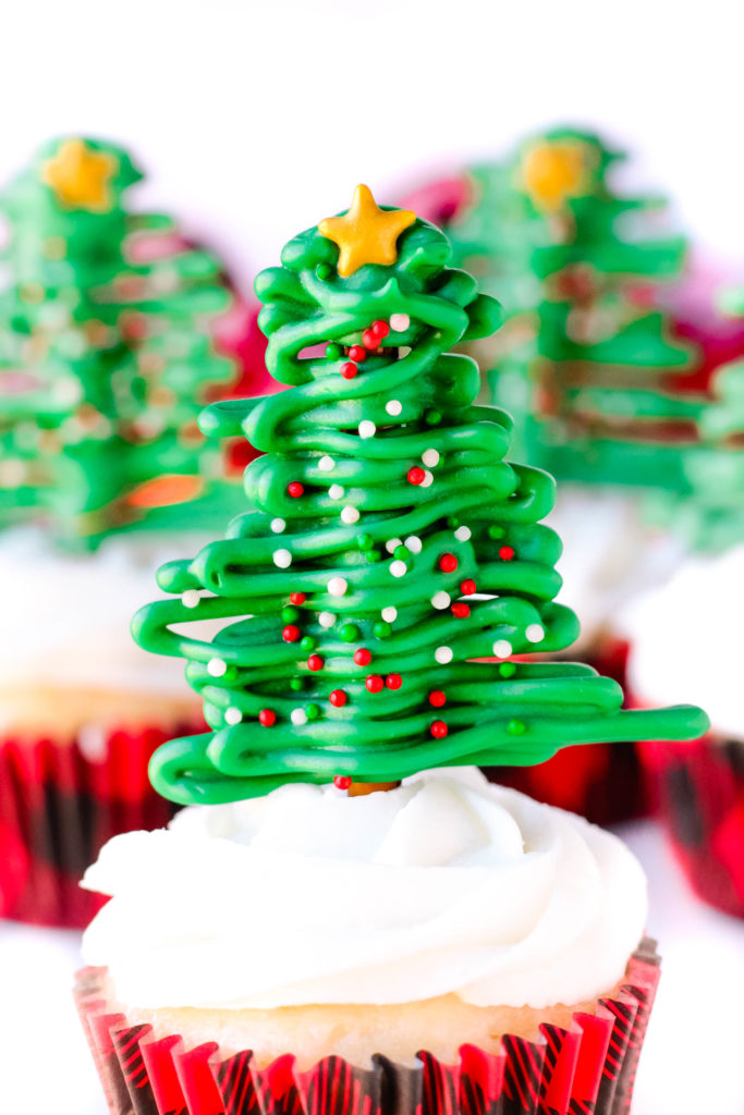 Pretzel Christmas Tree Cupcakes Recipe