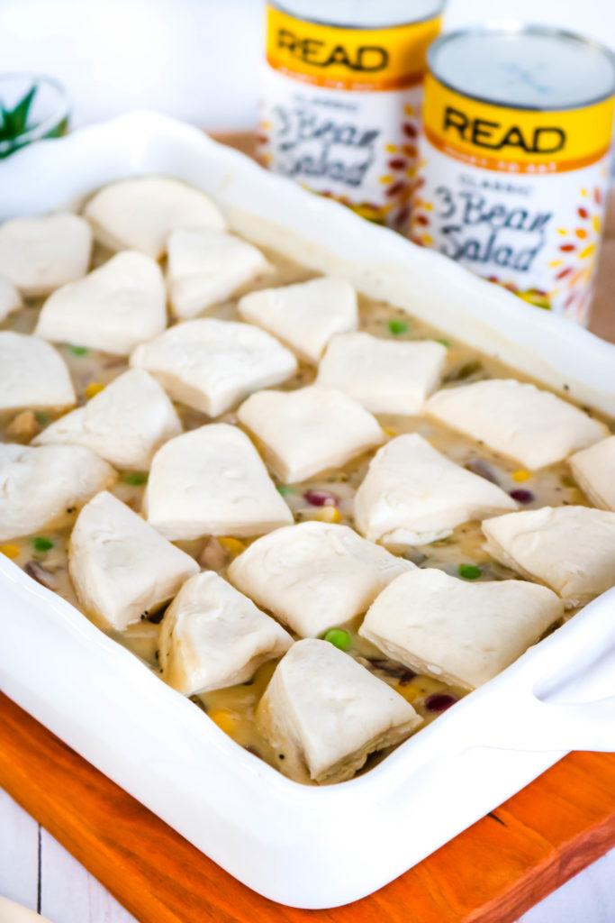 3 Bean Mushroom Pot Pie