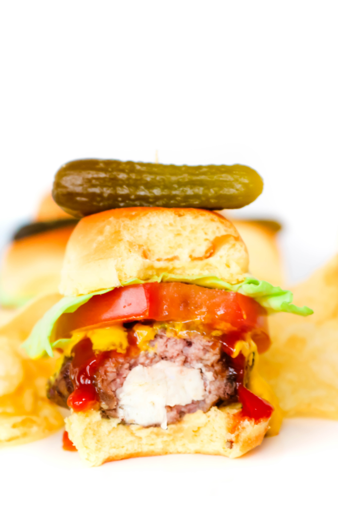 Airfryer Stuffed Cheeseburger Sliders