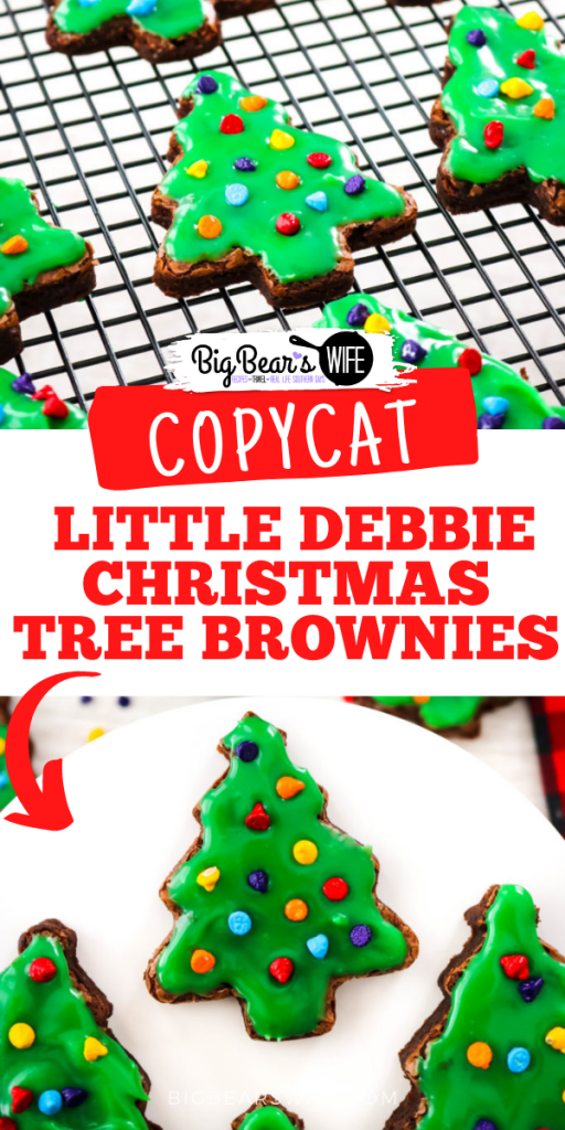 Little Debbie's Christmas Tree Brownies® are a nostalgic seasonal favorite. Jump in the kitchen and let's bake up some homemade brownie trees and decorate them with green ganache and candy-coated chocolate chips to create our very own Copycat Little Debbie Christmas Tree Brownies.