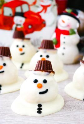 Melting Snowmen Cookie Bites
