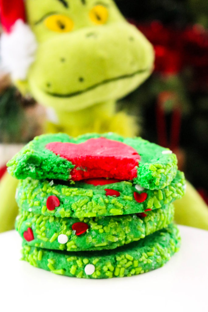 Slice n Bake Grinch Cookies