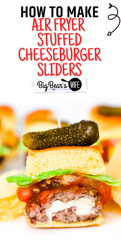 These sliders are stuffed with fresh mozzarella cheese, air-fried and topped with your favorite toppings to create the most amazing Stuffed Cheeseburger Sliders! These are perfect for game day parties or weeknight dinners.