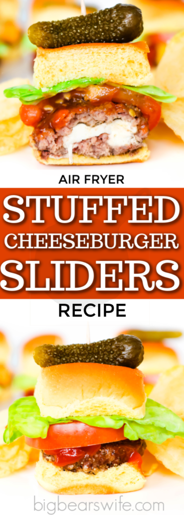 Air Fryer Stuffed Cheeseburger Sliders
