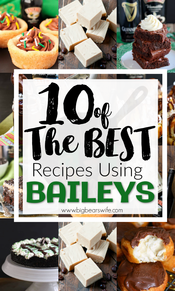 St. Patrick's Day seems to go hand in hand with Baileys Irish Cream, but to be honest, treats made with Baileys are amazing any time of year! If you love baking with Baileys Irish Cream you have just stepped into Baileys Irish Cream heaven because I've found 10 of the BEST recipes using Baileys and you're going to want to try all of them!