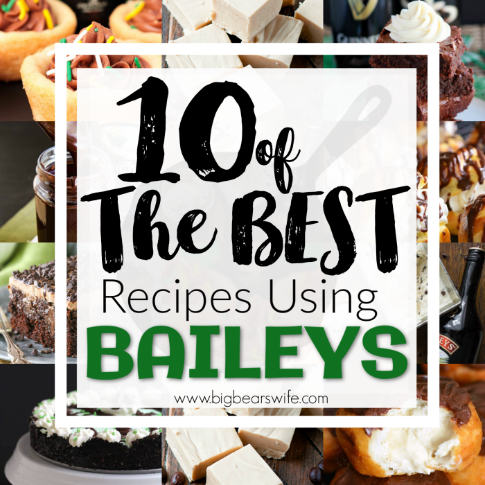 St. Patrick'sDay seems to go hand in hand with Baileys Irish Cream, but to be honest, treats made with Baileys are amazing any time ofyear! If you love baking with Baileys Irish Cream you have just stepped into Baileys Irish Cream heaven because I've found 10 of the BEST recipes using Baileys and you're going to want to try all of them!