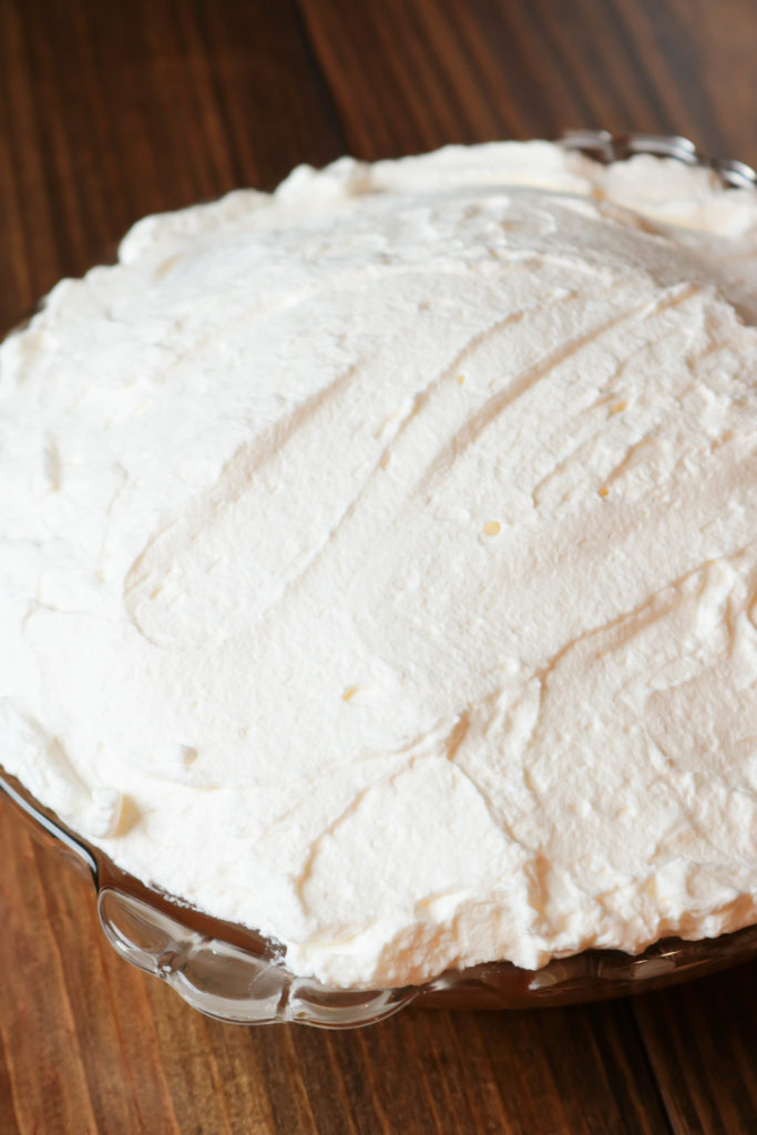 Banoffee Pie Whipped Cream on Pie
