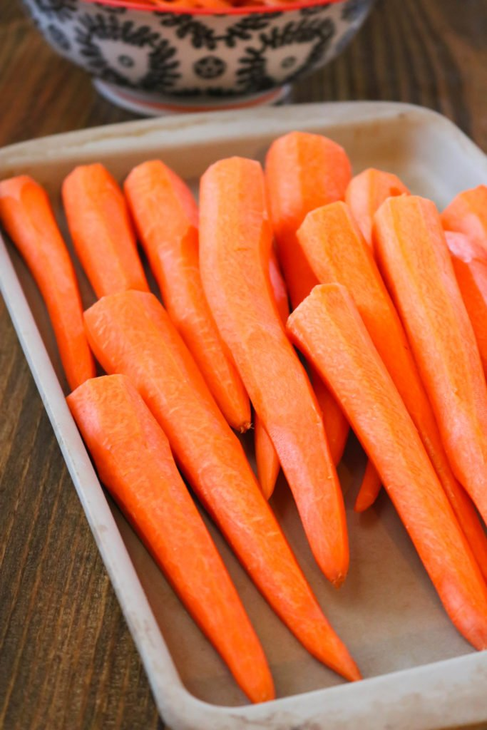 Peeled Raw Carrots